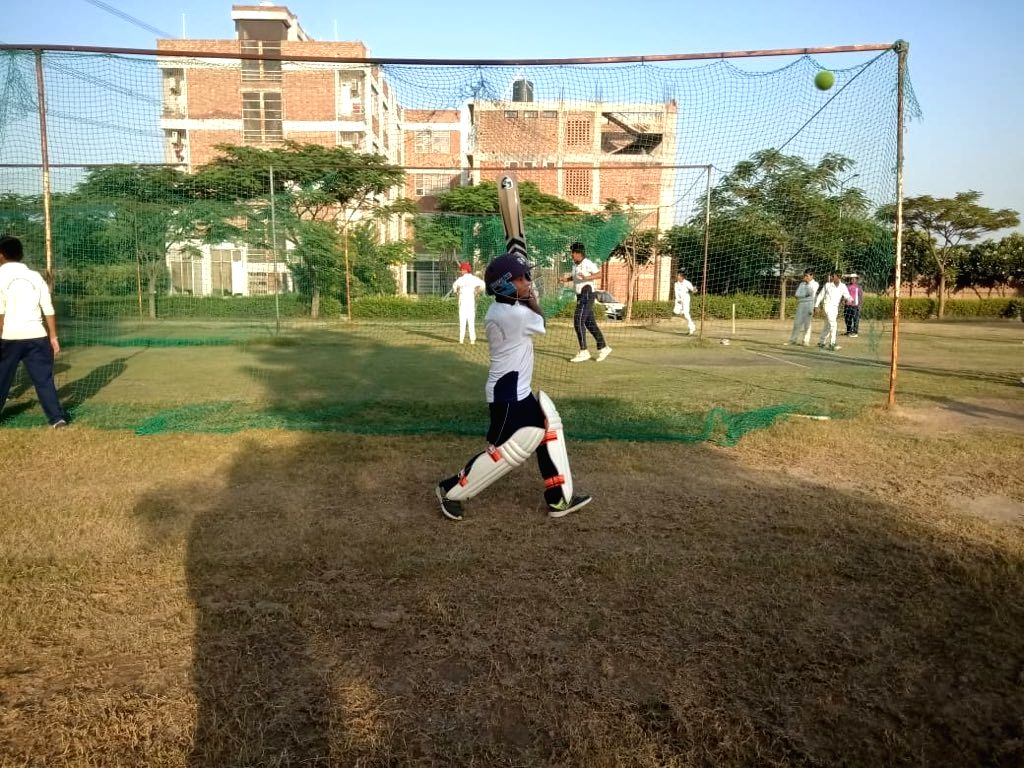 Former India opener Virender Sehwag has shared pictures of two kids training at the Sehwag International School on Wednesday. The two kids belong to the families of soldiers killed in Pulwama.
