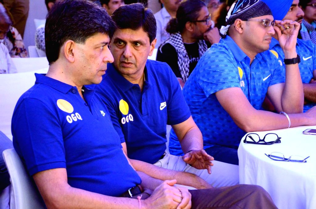 Former Indian badminton player Prakash Padukone and India billiards player Geet Sethi during a press conference organised before the departure of Indian contingent for the Rio Olympics in ... - Prakash Padukone