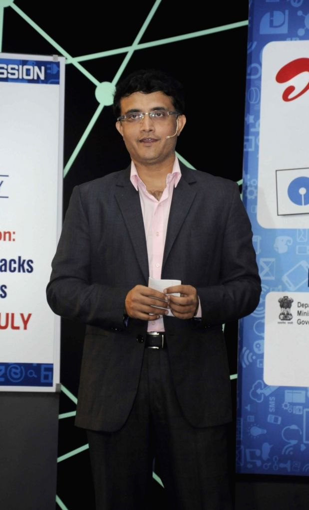 Former Indian cricket captain Sourav Ganguly during a interactive session at INFOCOM 2015 in Kolkata on Dec 3, 2015.