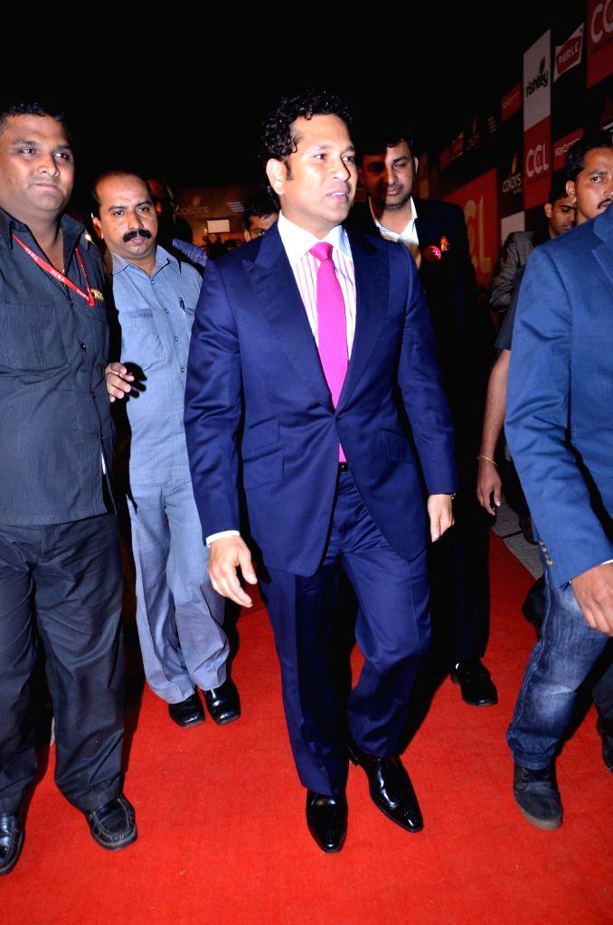 Former Indian cricketer Sachin Tendulkar during the media interaction for the upcoming Celebrity Cricket League 4 in Mumbai on December 20, 2013. - Sachin Tendulkar
