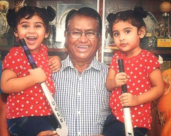 Former Indian Hockey captain, World Champion and Olympic medalist Ashok Kumar. - Ashok Kumar