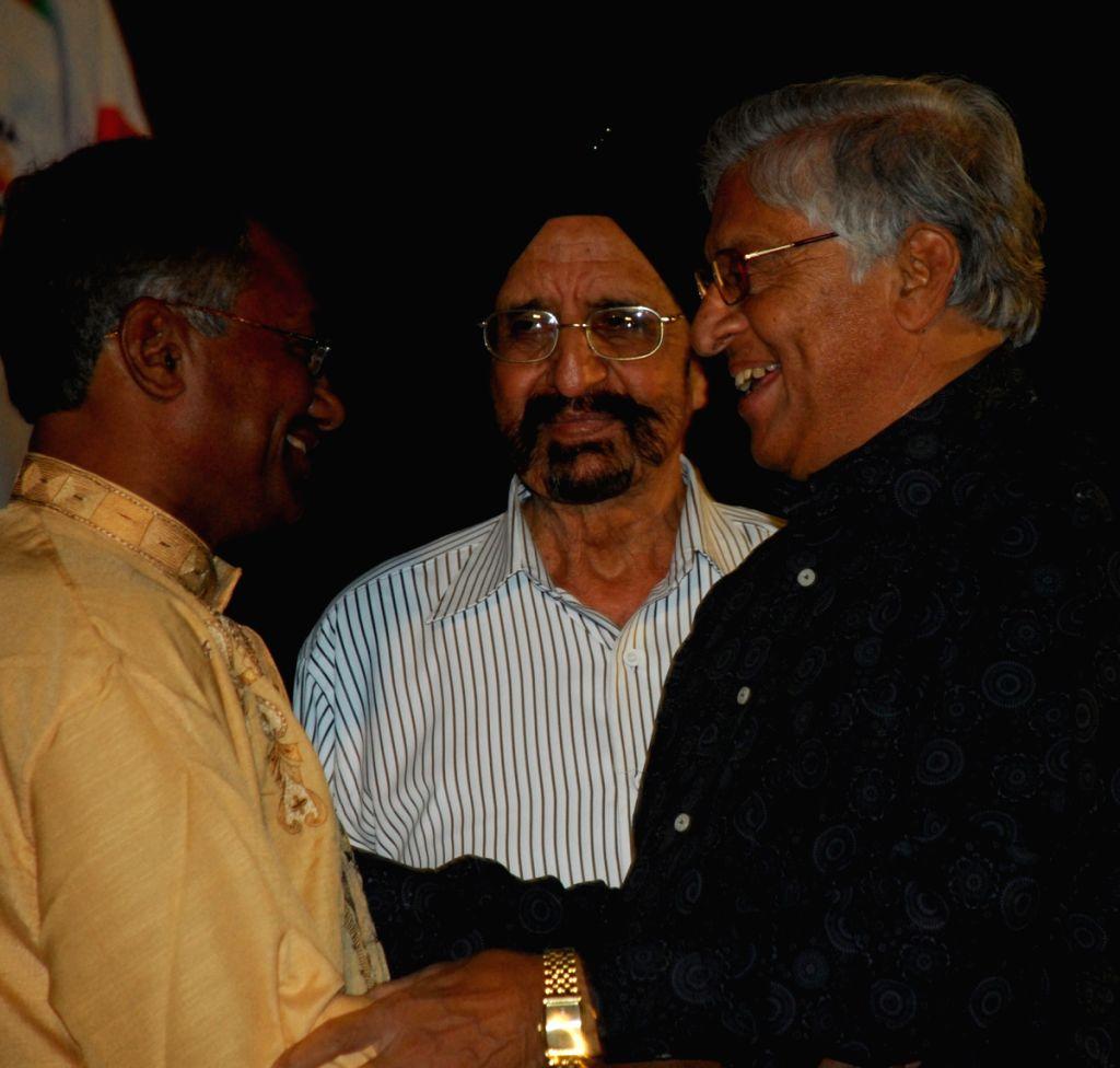 Former Indian International Hockey player Ashoke Kumar(extm Left), was given Life Time Achievement by Calcutta Sports Journalist Club in Kolkata on 28th Mar 09. With Other Indian International Hockey - Ashoke Kumar