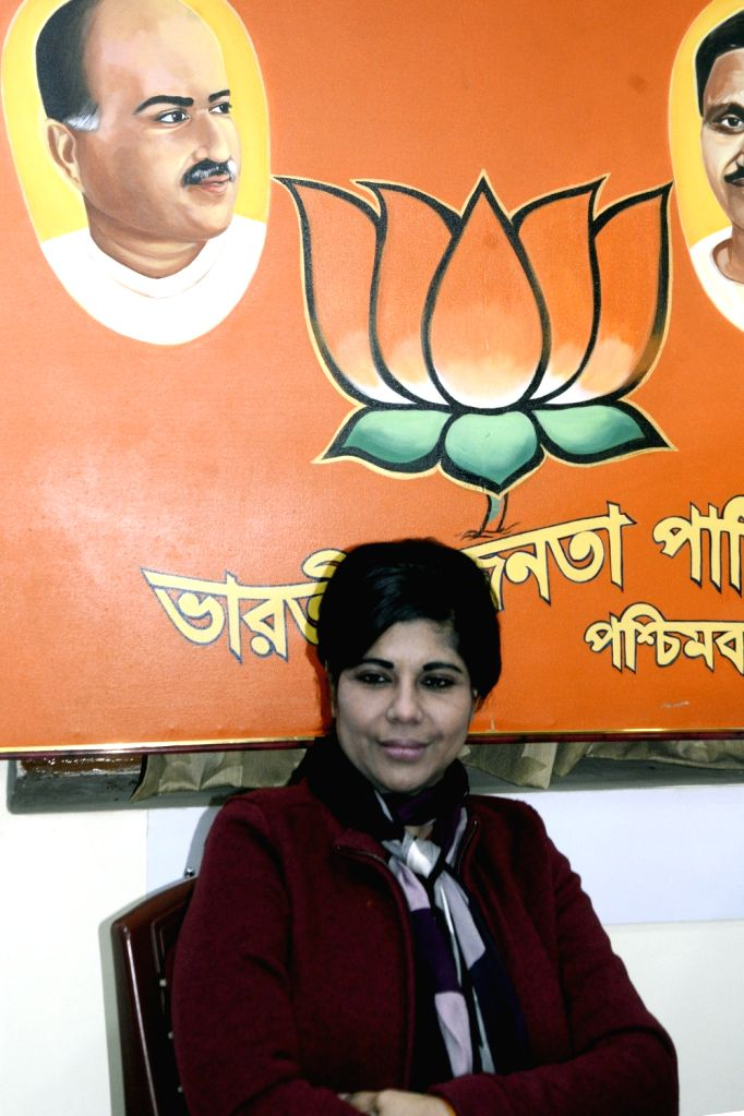 Former IPS officer Bharati Ghosh who recently joined BJP in West Bengal at BJP state head quarter in Kolkata on March 5, 2019. - Bharati Ghosh