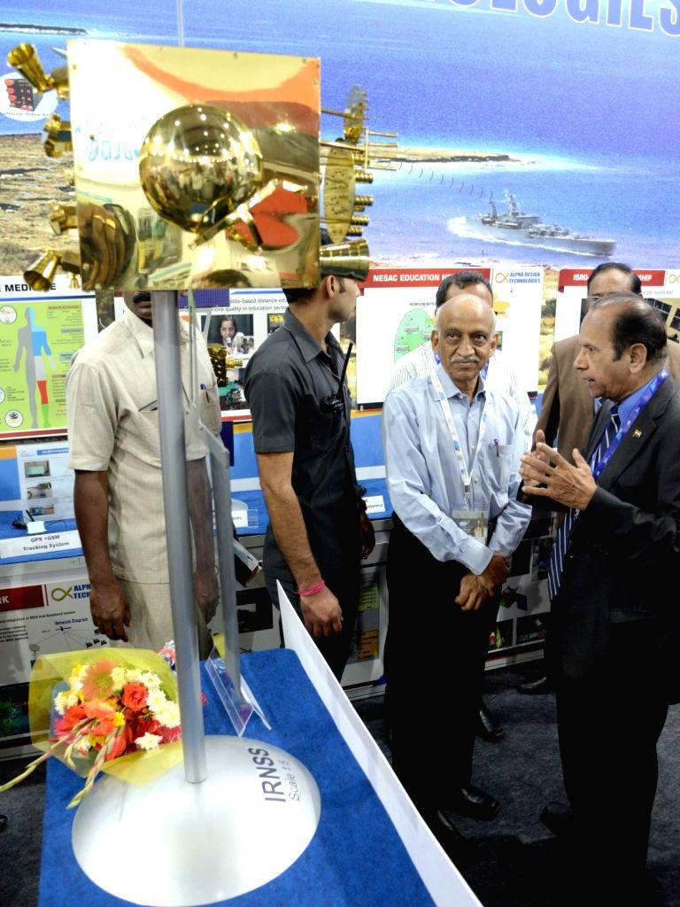 Former ISRO Chairman AS Kiran Kumar during an exhibition at the 6th Bengaluru Space Expo (BSX) 2018, in Bengaluru on Sept 6, 2018. - Kiran Kumar