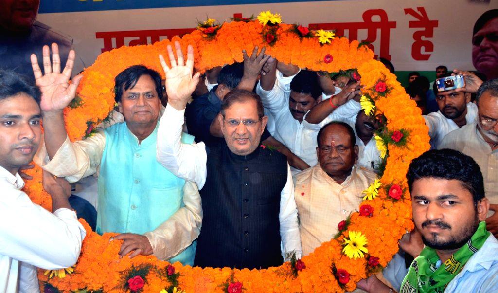 Former JD(U) chief Sharad Yadav during a party meeting in Patna on Aug 19, 2017. - Sharad Yadav