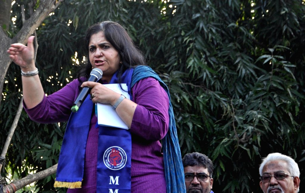 Former journalist and human rights activist Teesta Setalvad speaks on the ongoing National Register of Citizens (NRC) exercise in Assam; in Kolkata on Nov 13, 2019.