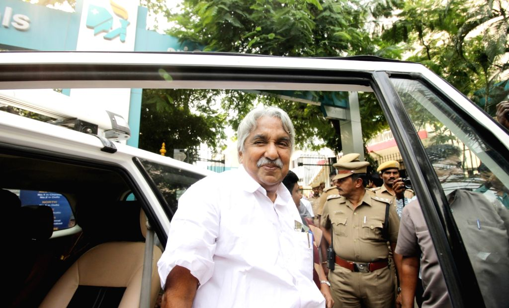 Former Kerala chief minister Oommen Chandy arrives to visit Tamil Nadu Chief Minister J. Jayalalithaa who is admitted in a Chennai Hospital since September 22, 2016. - Oommen Chandy