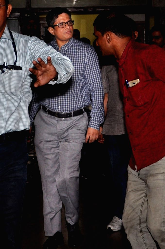 Former Kolkata Police commissioner Rajeev Kumar comes out from the Central Bureau of Investigation (CBI) office after interrogation in the Saradha chit fund scam case, in Kolkata on June 7, ... - Rajeev Kumar