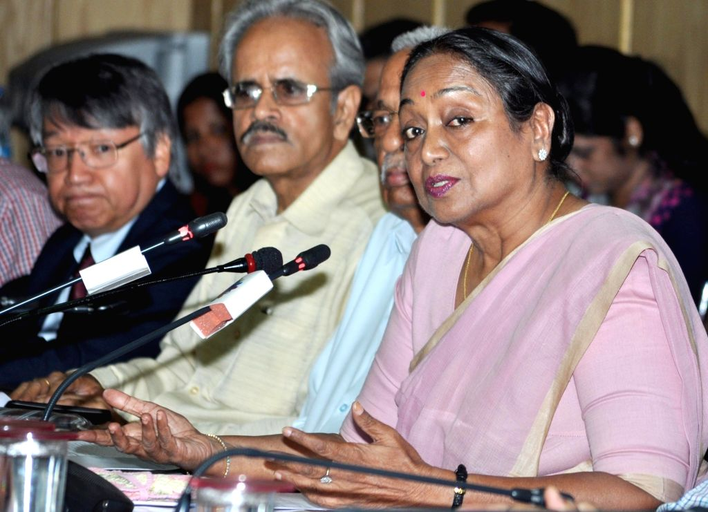 """Former Lok Sabha Speaker Meira Kumar during interactive session on """"Challenges of Parliamentary Democracy in India"""" at Merchant Chamber of Commerce & Industry in Kolkata on May ... - Meira Kumar"""