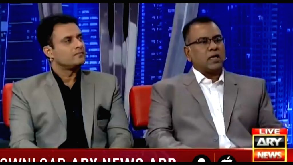 "Former Pakistan cricketer Basit Ali (R) has claimed that India will ""never want Pakistan"" to make it to the semi-finals of the ongoing World Cup and that's why the Men in Blue might perform badly and intentionally lose their matches against Banglades"