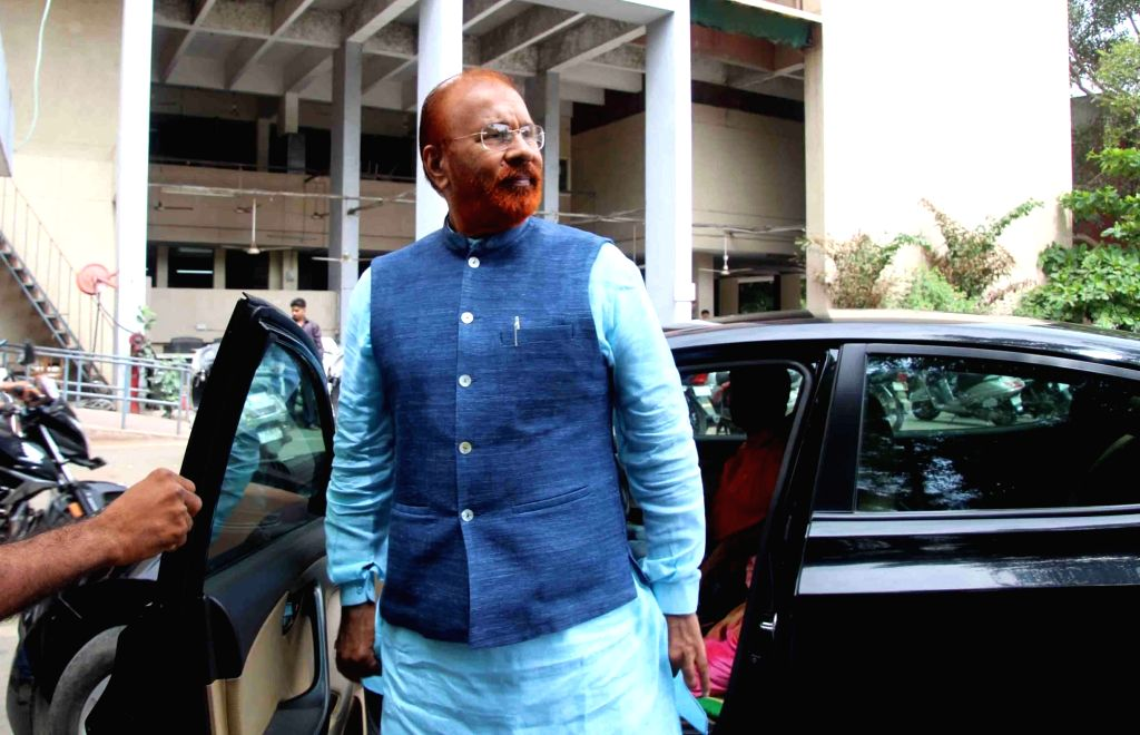 Former police officer DG Vanzara arrives at a special CBI court for a hearing in the case of alleged fake encounter of Ishrat Jahan and three others, in Ahmedabad on Aug 7, 2018. Ishrat ...