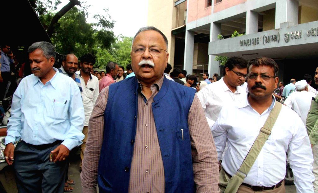 Former police officer NK Amin at a special CBI court for a hearing in the case of alleged fake encounter of Ishrat Jahan and three others, in Ahmedabad on Aug 7, 2018. Ishrat Jahan, 19, ...