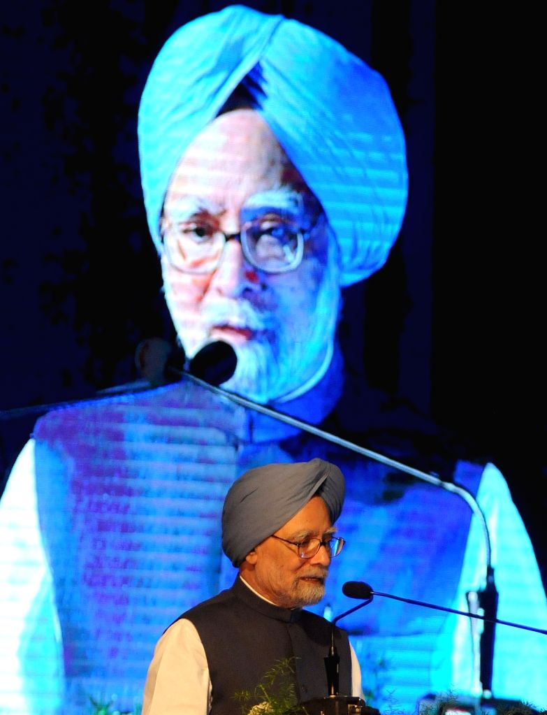 Former Prime Minister of India Manmohan Singh addresses during inauguration of academic session of Bengaluru Dr. B R Ambedkar School of Economics on Oct 4, 2017. - Manmohan Singh