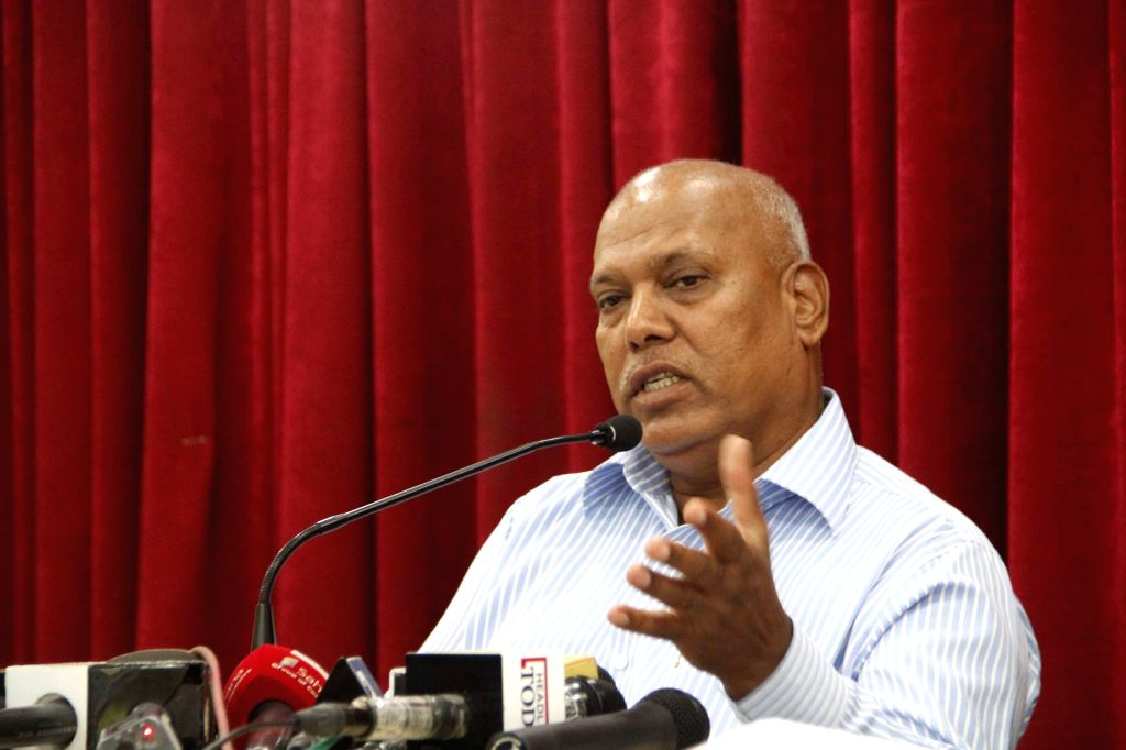 Former Pune police commissioner Gulabrao Pol addresses a press conference in Pune on July 21, 2014.