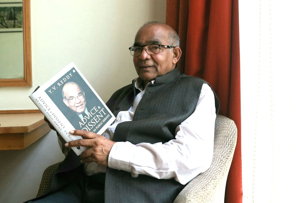 Former Reserve Bank of India (RBI) Governor YV Reddy during an interview with IANS.