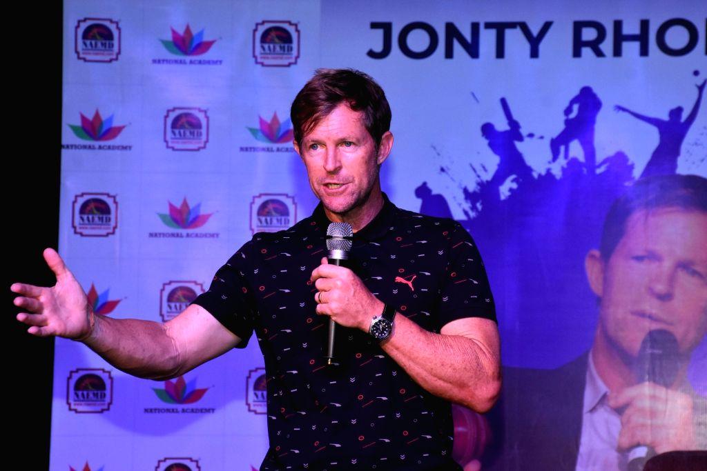 Former South African cricketer Jonty Rhodes. (Photo: Ravi Shankar Vyas/IANS)