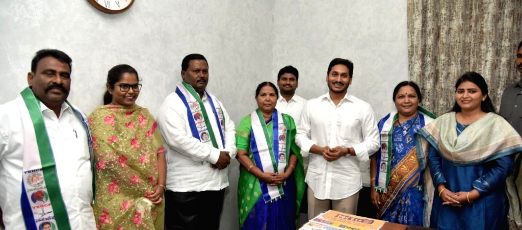 Former TDP leaders Shamanthakamani and Yamini Bala join YSR Congress Party in the presence of Andhra Pradesh Chief Minister and YSRCP President YS Jagan Mohan Reddy, in Vijayawada on ... - Jagan Mohan Reddy