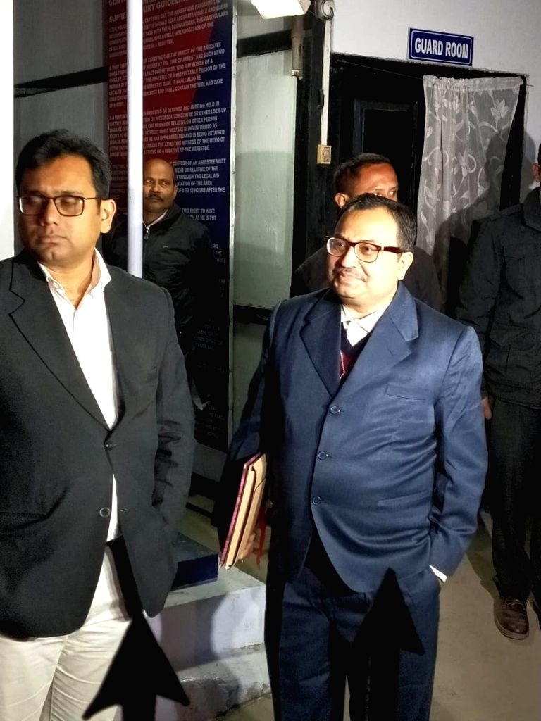 Former Trinamool Congress MP Kunal Ghosh arrives at CBI office in Shillong on Feb 11, 2019. He is being interrogated in connection with the Saradha and Rose Valley chit fund scams. - Kunal Ghosh