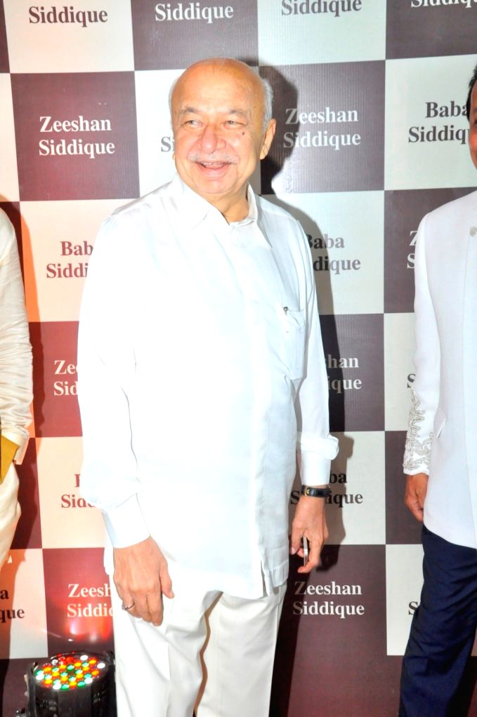 Former Union Home Minister Sushil Kumar Shinde during Congress leader Baba Siddique`s Iftar party, in Mumbai, on June 24, 2017. - Sushil Kumar Shinde