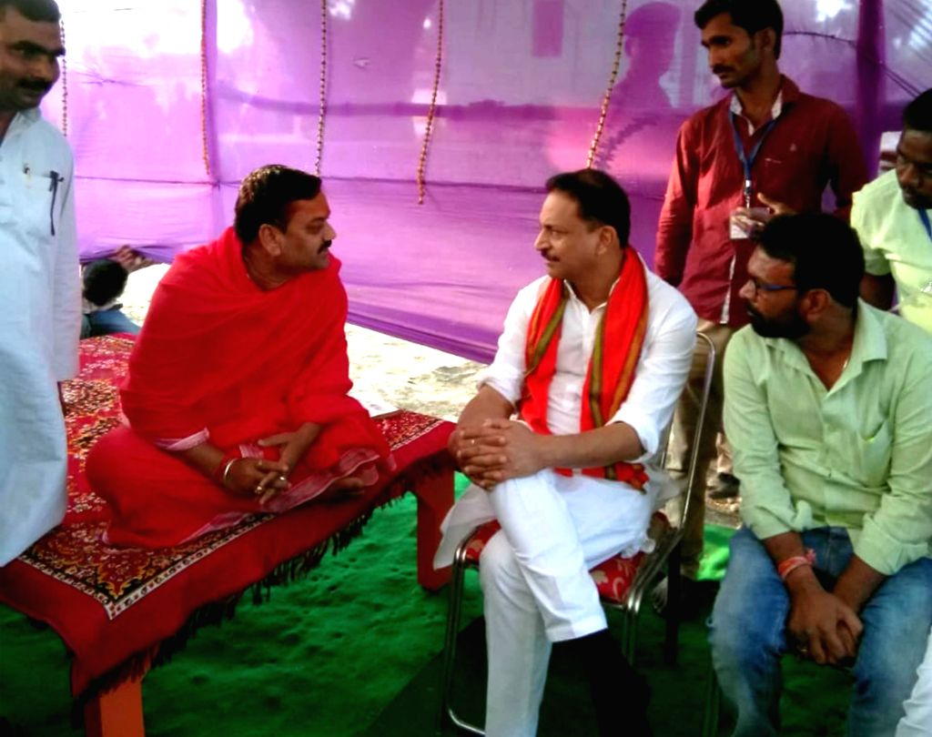 Former Union Minister and BJP candidate from Chapra Rajiv Pratap Rudy during an election campaigns ahead of the Lok Sabha elections, in Bihar's Chapra on April 9, 2019.