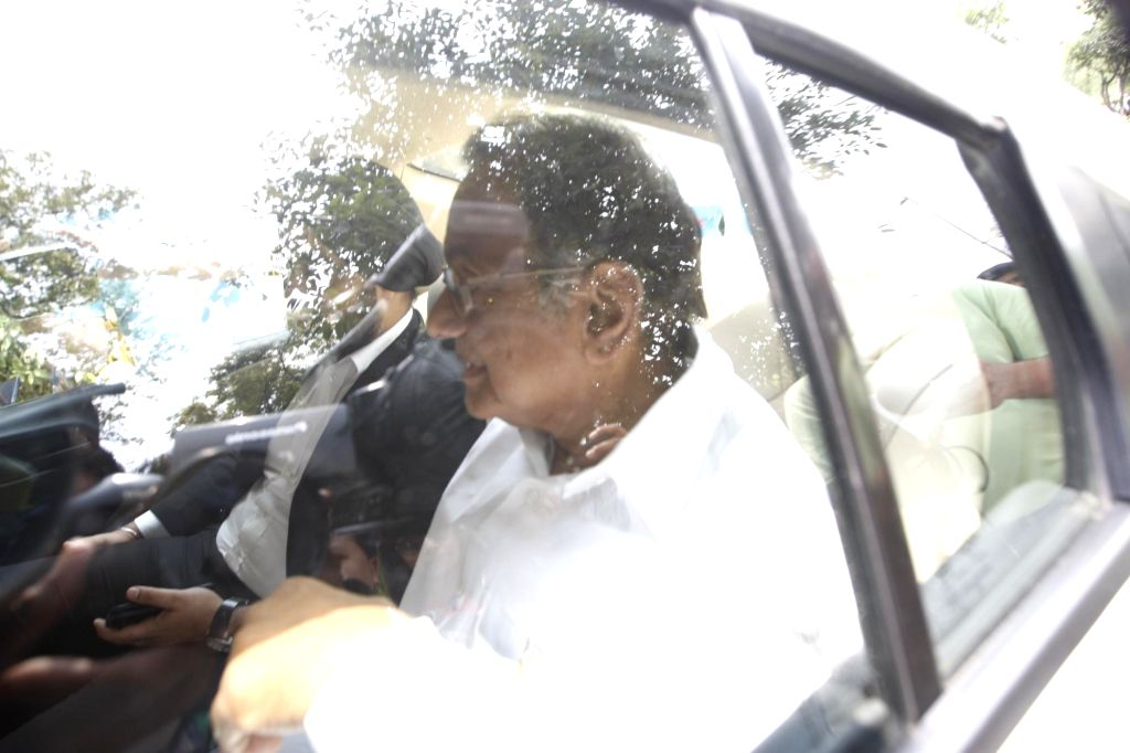 Former Union Minister P. Chidambaram arrives at the Enforcement Directorate (ED) in connection with the Aircel-Maxis deal case, in New Delhi on June 5, 2018. A special court on Tuesday ... - P. Chidambaram