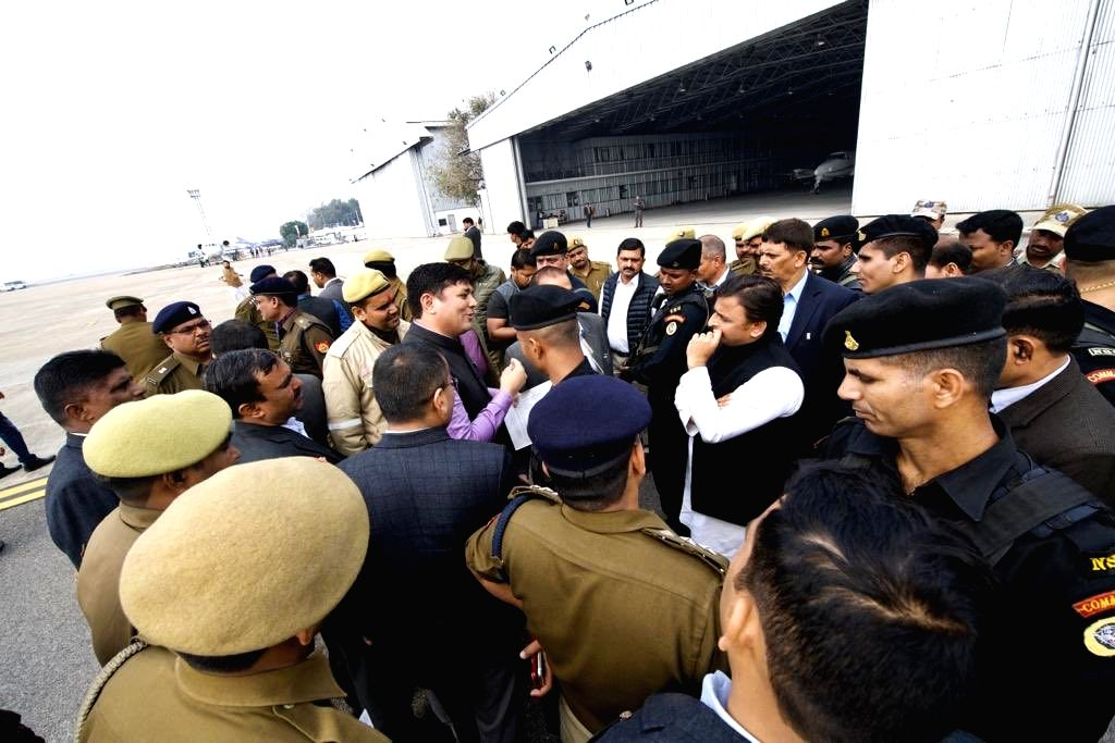 Former Uttar Pradesh Chief Minister and Samajwadi Party leader Akhilesh Yadav who accused the state government of preventing him from taking a flight to Prayagraj where he was to attend the ... - Akhilesh Yadav