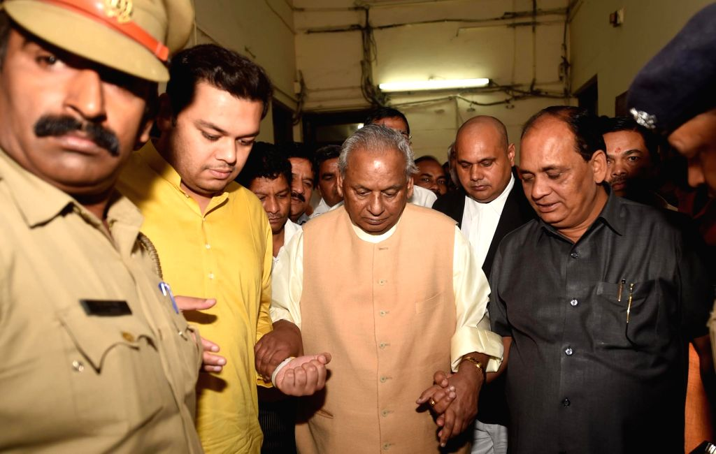 Former Uttar Pradesh Chief Minister Kalyan Singh comes out of a special CBI court in Lucknow, on Sep 27, 2019. The special CBI court in Lucknow on Friday framed charges against senior BJP ... - Kalyan Singh
