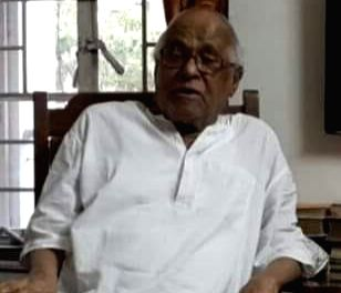 Former West Bengal Power Minister and former Vice Chancellor of Jadavpur University Sankar Sen.