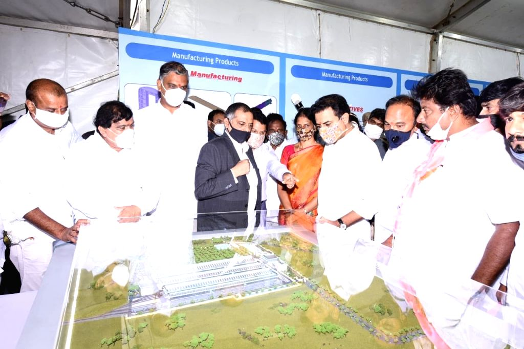 Foundation stone laid for rail coach factory near Hyderabad.