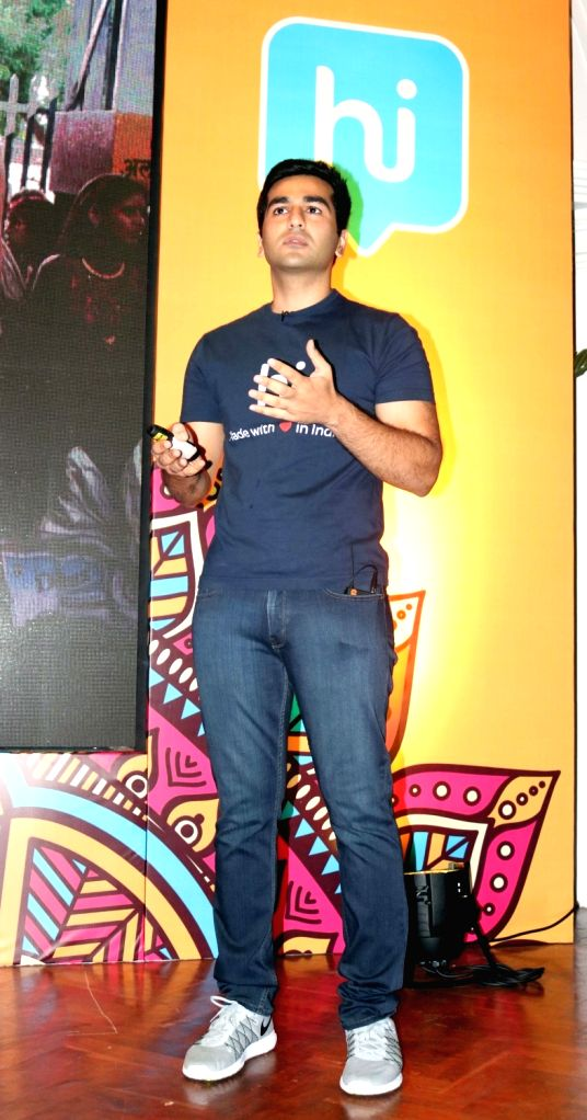 Founder of Hike Messenger Kevin Bharti Mittal during a press conference regarding Hike messenger in New Delhi on Aug 16, 2016.