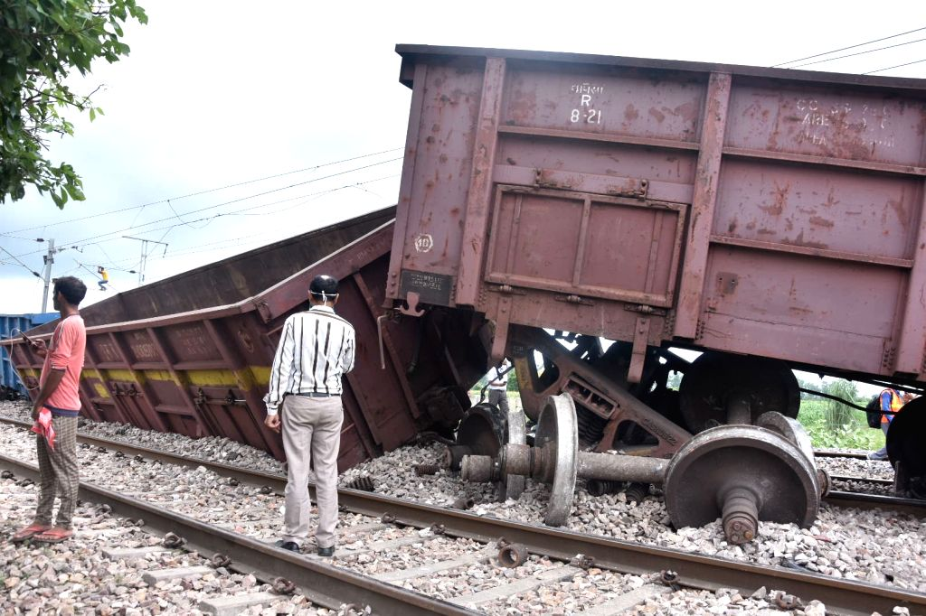 Four coaches of Goods train derailed in Mathura on Sunday, rail traffic disturbed between Delhi & Mathura, on August 30,2020.