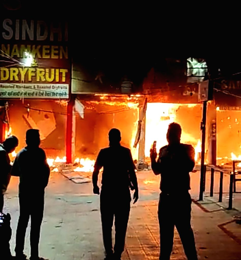 Four garment shops gutted in Gurugram fire.