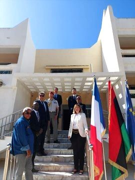 France reopens Embassy in Libya after 7 yrs.(pic credit: twitter.com/AmbaFranceLibye)
