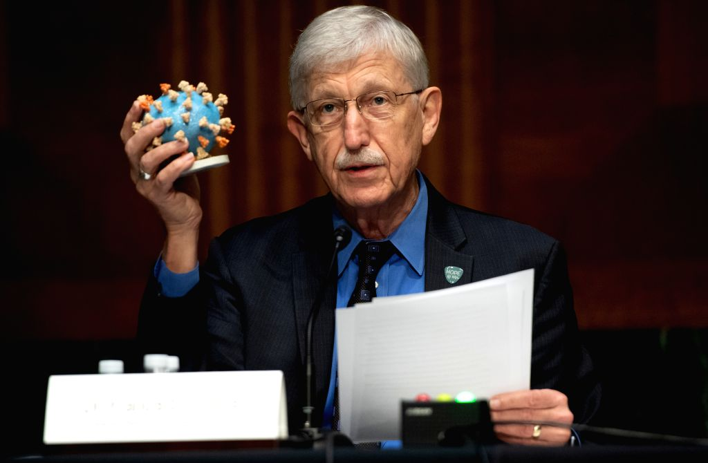 Francis Collins, director of the U.S. National Institutes of Health (NIH), testifies during a hearing of U.S. Senate Subcommittee on Labor, Health and Human ...