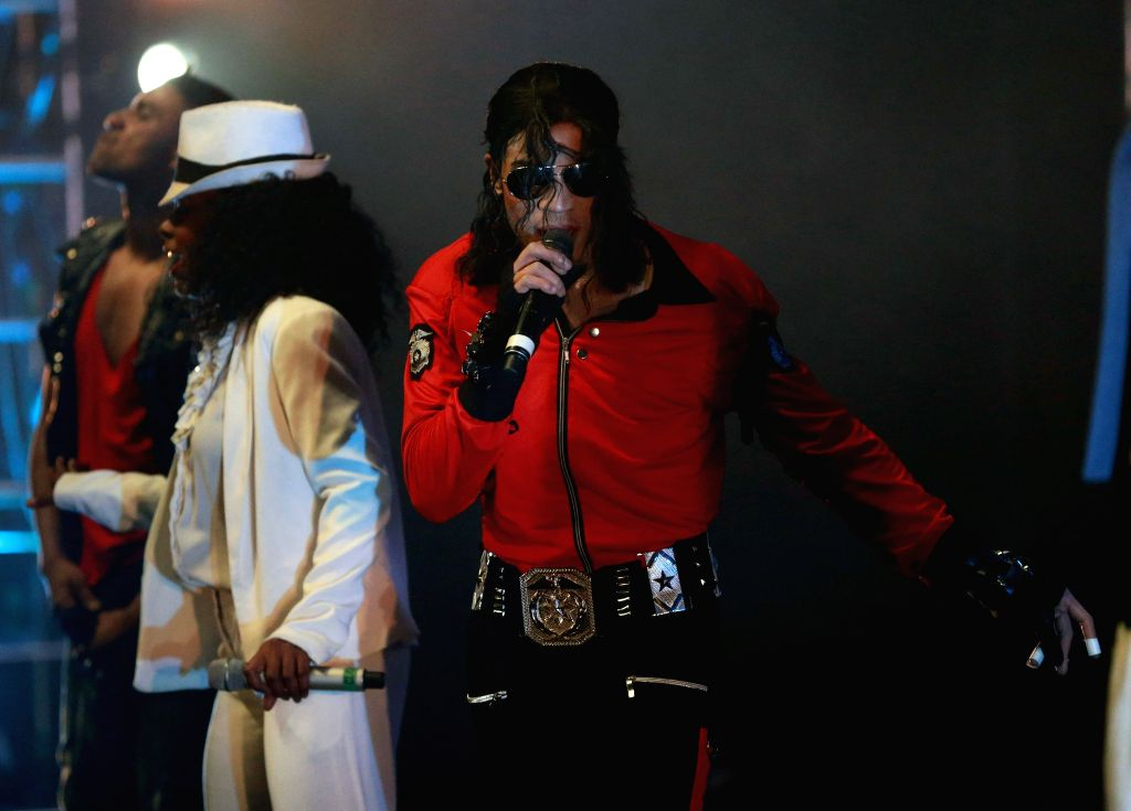 """Actors perform in """"ThrillerLive"""" at the Old Opera House in Frankfurt, Germany, on April 15, 2014. ThrillerLive is a two and a half hour concert"""