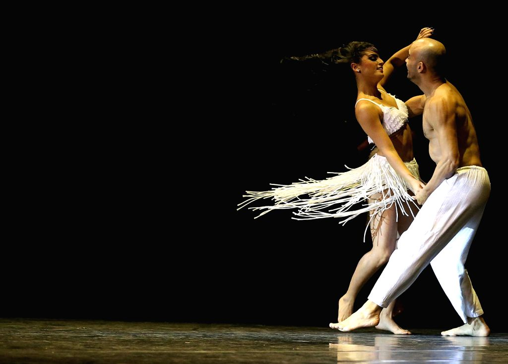 """Dancers from """"Brasil Brasileiro"""" perform during the rehearsal at the Old Opera House in Frankfurt, Germany on Aug. 26, 2014. This is the first time ..."""