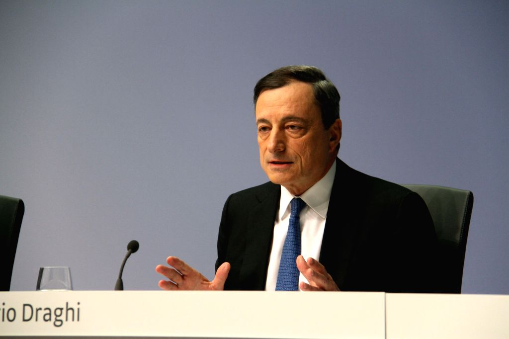 European Central Bank President Mario Draghi attends a press conference in Frankfurt, Germany, on Jan. 22, 2015. The European Central Bank decided on Thursday to .