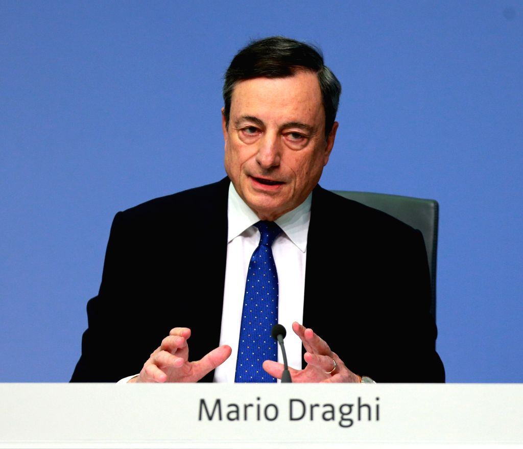 FRANKFURT, March 9, 2017 - European Central Bank (ECB) President Mario Draghi attends a press conference at the ECB headquarters in Frankfurt, Germany, March 9, 2017. ECB on Thursday decided to keep ...