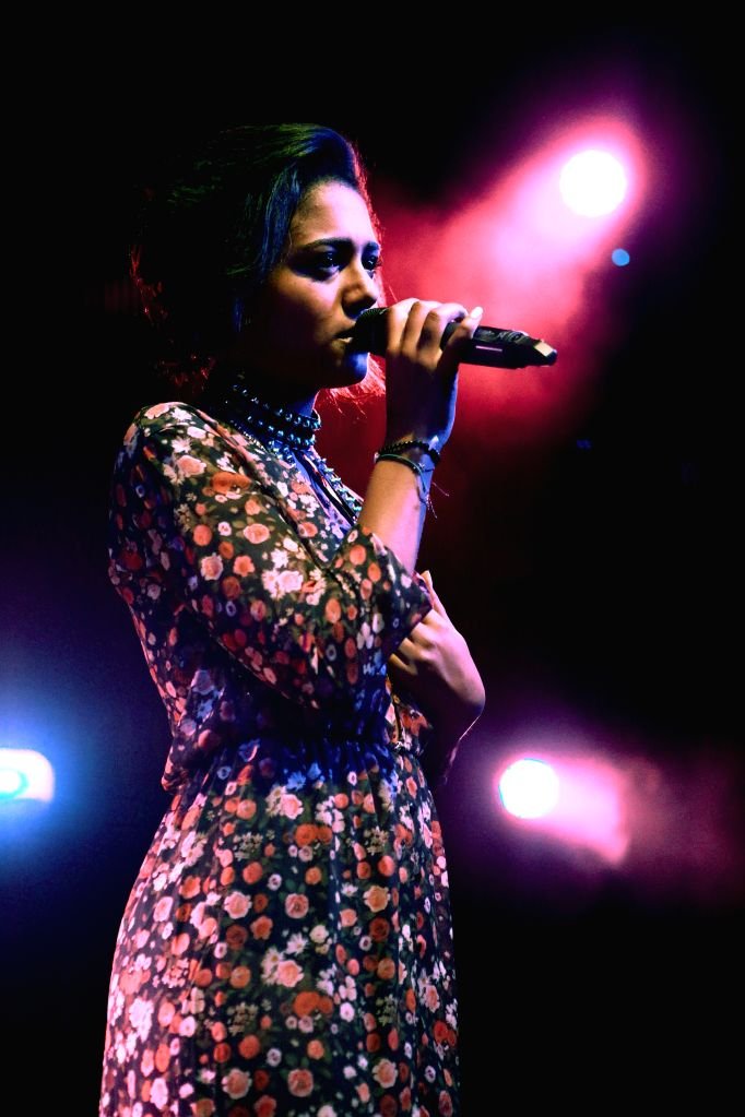 German singer and model Lary performs during the Women of the World Music Festival 2014 at Gibson in Frankfurt, Germany, on May 11, 2014. Twenty five female ... - Lary