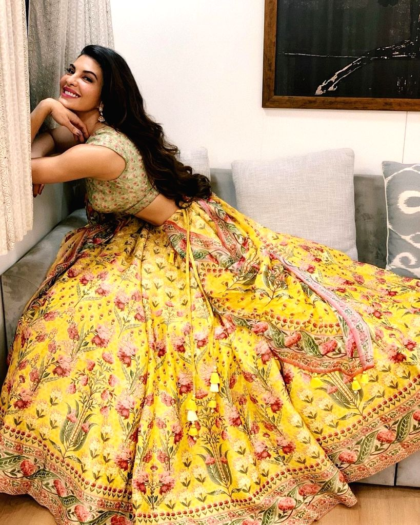 Free Photo: Grammy-nominated producer DJ Snake is in awe of the 'desi' avatar of actress Jacqueline Fernandez. Jacqueline took to Instagram to share stunning images of herself in a lehenga. With her wavy hair flowing freely, the actress looked elegan - Jacqueline Fernandez