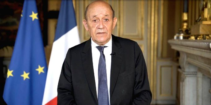 French Foreign Minister Jean-Yves Le Drian. (credit: twitter.com/jy_ledrian) - Jean-Yves L