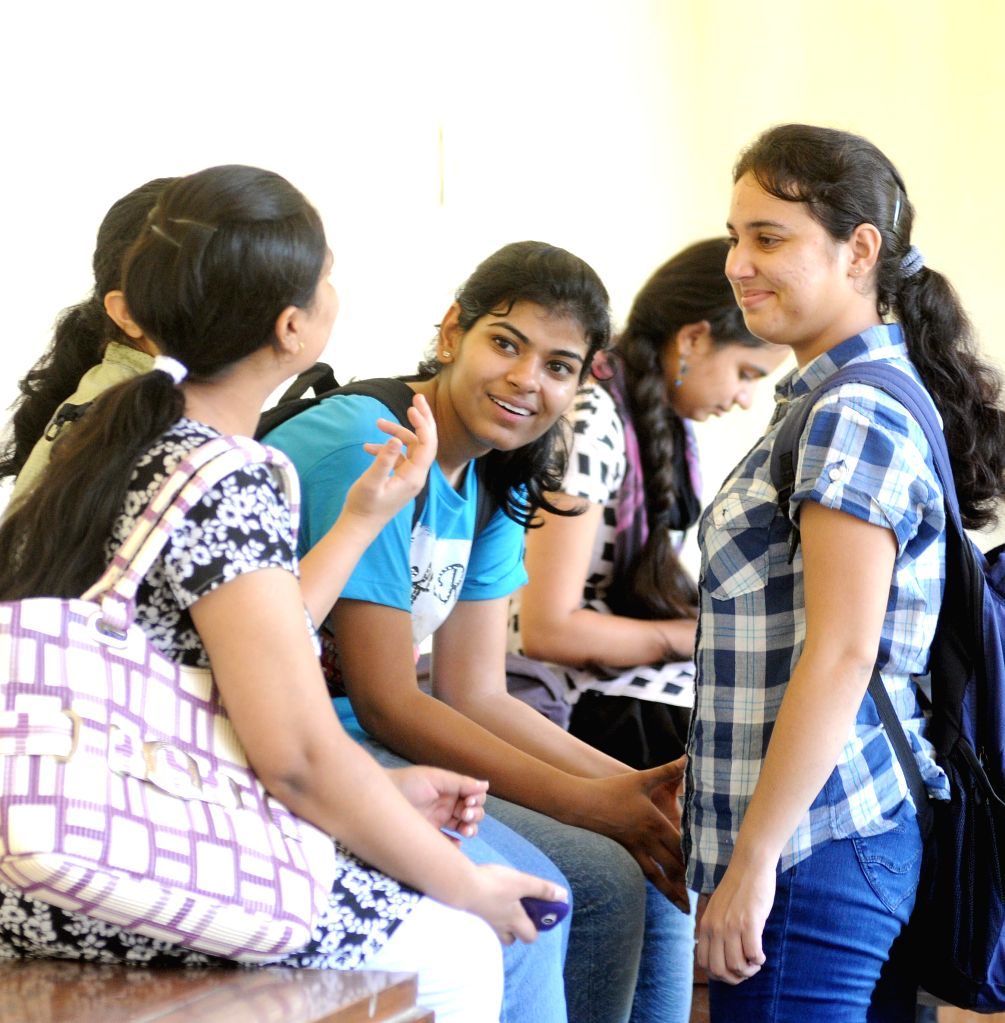 Freshers in college campus on Day -1 of their college lives in New Delhi on July 21, 2014.