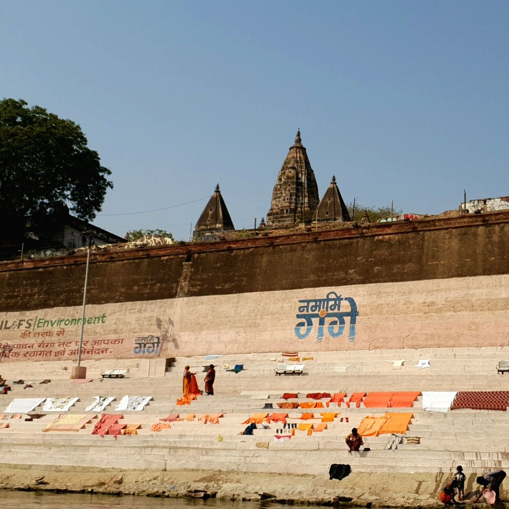 From Benaras to Prayag, it is a Sangam of Faith. Laundry left to dry on the banks of the Ganga river.