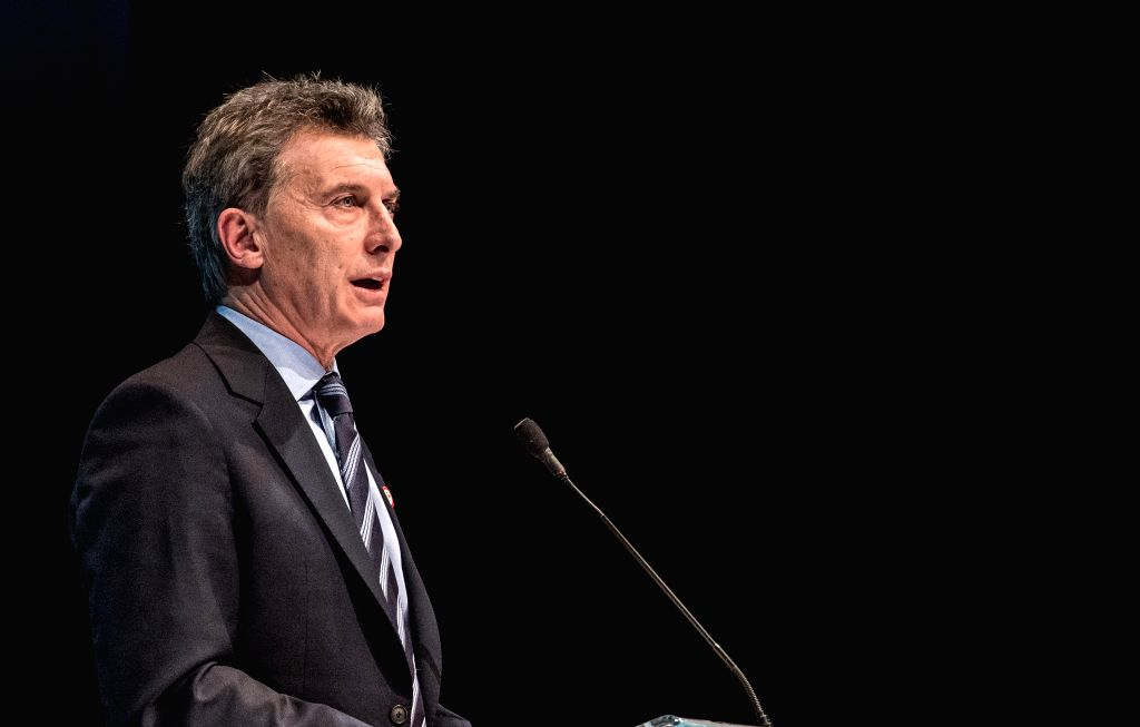 FRUTILLAR, July 1, 2016 - Argentina's President Mauricio Macri delivers a speech during the 3rd Pacific Alliance Business Summit in Frutillar City, Chile, on June 30, 2016.