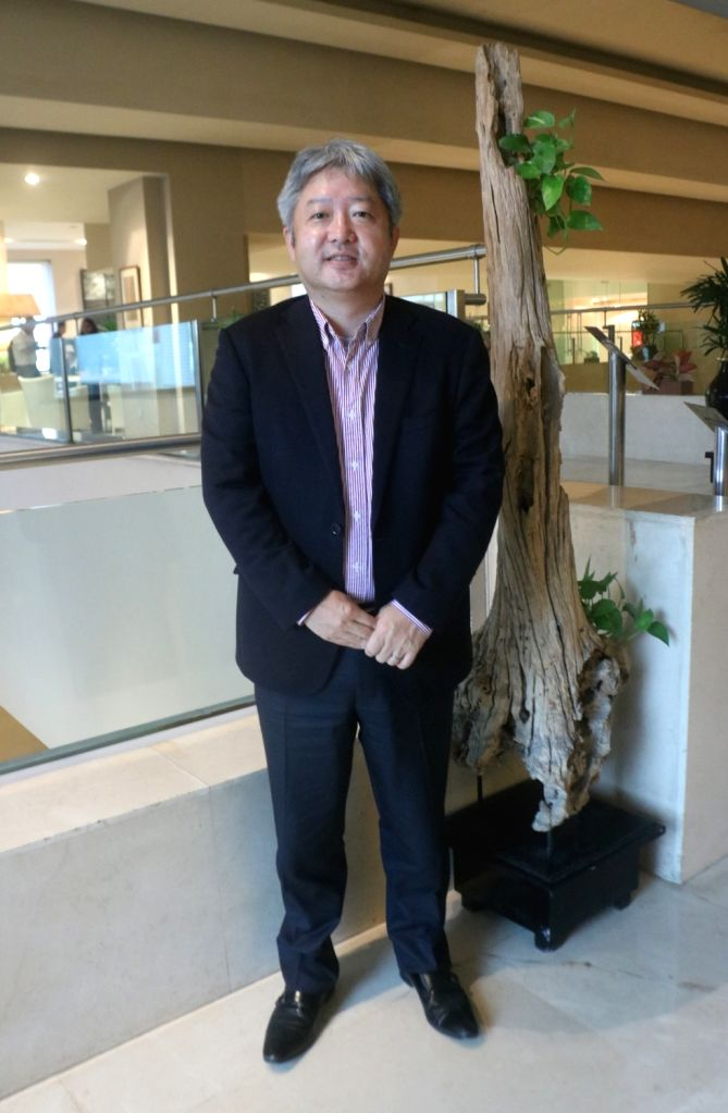 Fujifilm India Managing Director Haruto Iwata during an interview with IANS.