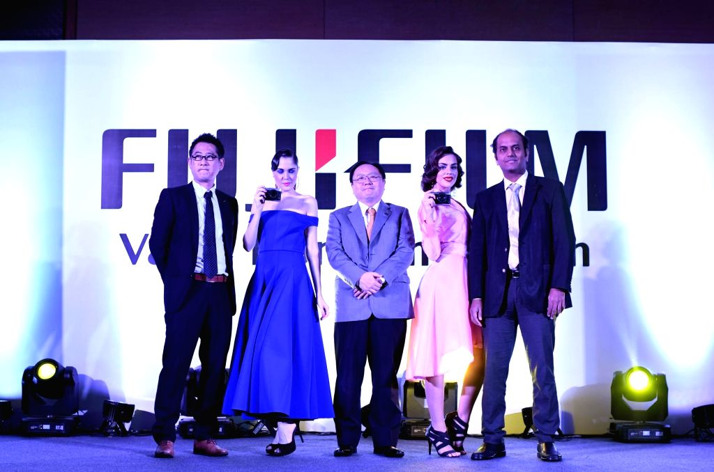 Fujifilm Optical Device and Electronic Imaging Products Div Manager (Sales and Marketing Group) Tomohide Yazawa, Fujifilm India Managing Director Yasunobu Nishiyama and Fujifilm India HOD- ...