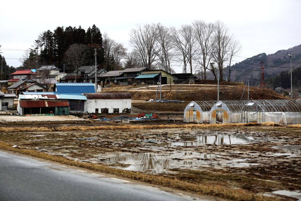 Abandoned fields and houses are seen in the town of Iitate, Fukushima Prefecture, Japan, March 7, 2015. The scenes from the towns and villages still abandoned ...