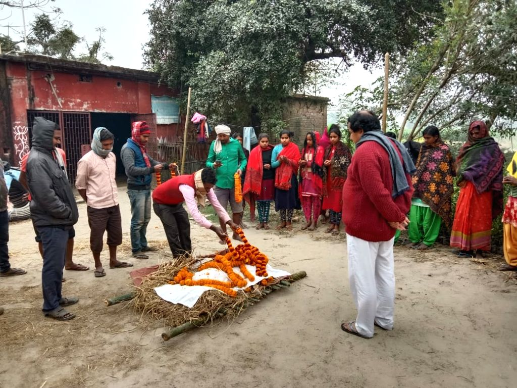 funeral procession of a dog in patna