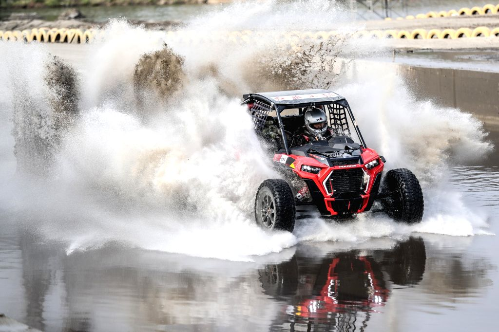 FUXIN, June 17, 2019 - Du Xuanyi of Polaris Youth competes during the China Offroad Championship (COC) in Fuxin, northeast China's Liaoning province, June 17, 2019.