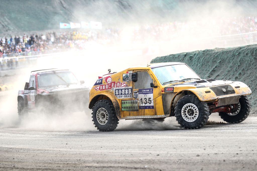 FUXIN, June 17, 2019 - Liang Quan of Vehicles Servant Team 1 competes during the China Offroad Championship (COC) in Fuxin, northeast China's Liaoning province, June 17, 2019.